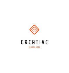 Square signal networking creative business logo vector