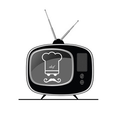 Tv with chef on it vector