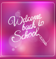 Welcome back to school colorful logo vector