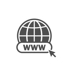 www icon www search bar icon website icon vector image