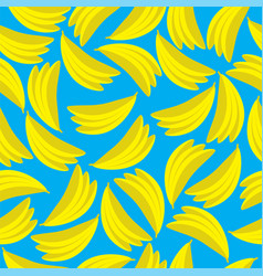 yellow bananas seamless pattern vector image
