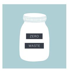 zero waste living glass jar vector image