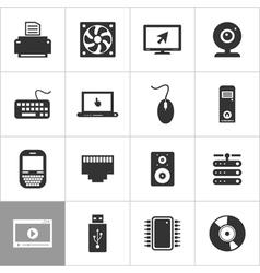 Computer an icon2 vector image vector image