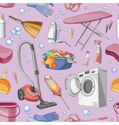 Doodle pattern set of cleanup vector image vector image