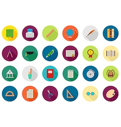 Education round icons set vector image vector image