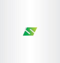 green logo letter s number 5 five vector image vector image