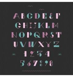 Art deco geometric font vector image