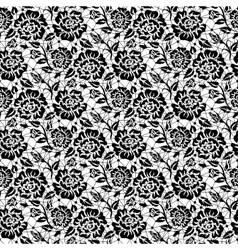 Black rose lace vector image vector image