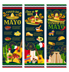 cinco de mayo mexican festival greeting banner vector image