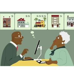 Considering senior housing options vector image vector image