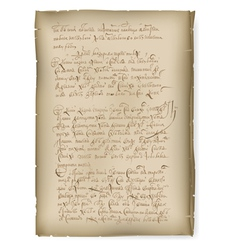 an old manuscript vector image vector image