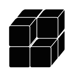 cube with blocks icon vector image
