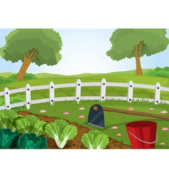 farm and gardening tools vector image