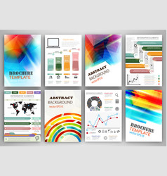 infographic templates and abstract creative vector image vector image