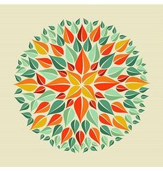 Leaves yoga mandala vector image