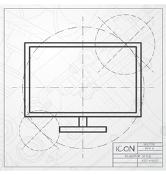 TV or monitor icon vector image