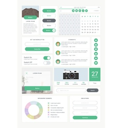 ui kit for mobile 01 vector image vector image