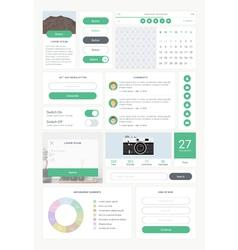 ui kit for mobile 01 vector image