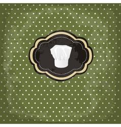 vintage design card with chef hat frame vector image