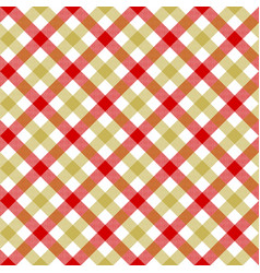 white red beige check plaid fabric texture vector image