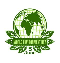 world environment day logo design vector image
