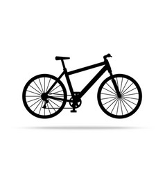 bicycle icon bike isolated on white vector image vector image