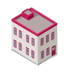 Isometric city building isometry vector