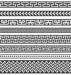 Old greek border designs vector