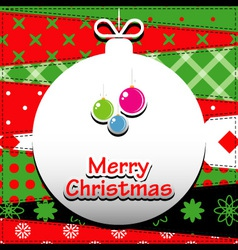 Patchwork background with christmas ball vector image vector image