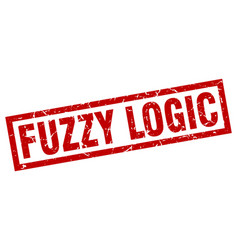 square grunge red fuzzy logic stamp vector image vector image