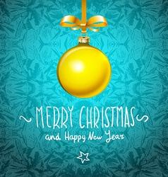 winter holiday of christmas balls vector image