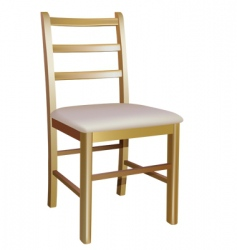 wooden chair vector image vector image