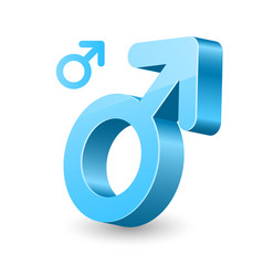 3d male gender symbol - man sign vector