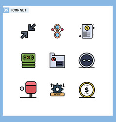 9 creative icons modern signs and symbols of vector image