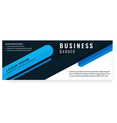 abstract black blue design business banner vector image