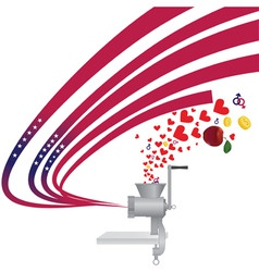 Abstract usa independence background meat gr vector