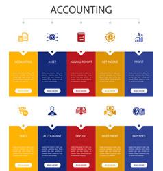 Accounting infographic 10 option ui designasset vector