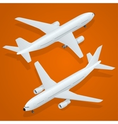 Airplane icon Flat 3d isometric high quality vector image
