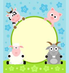 animal cartoon background vector image