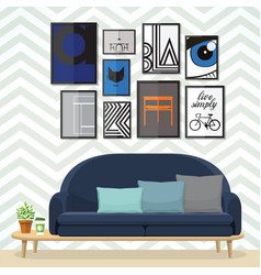 Art for living room vector