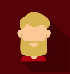 Bearded men face hipster character fashion vector