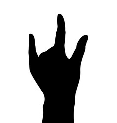 black hand silhouette symbol vector image