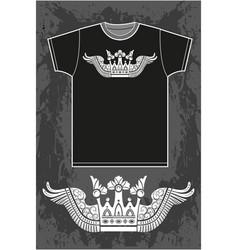 Black short sleeved t-shirt vector