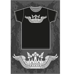 black short sleeved t-shirt vector image