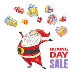 boxing day sale concept banner cartoon style vector image