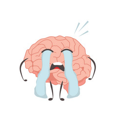 Brain characters cry making sport exercises and vector