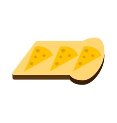 Breakfast white bread toast vector image