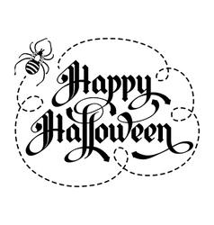 calligraphy inscription happy halloween unique vector image