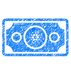 Cardano bank note icon grunge watermark vector