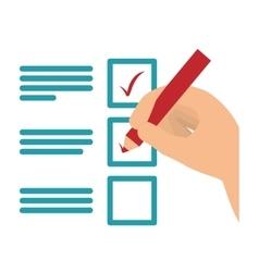 Checklist with square cases icon image vector
